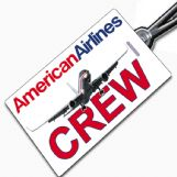 American Airlines 757WL crew Tag